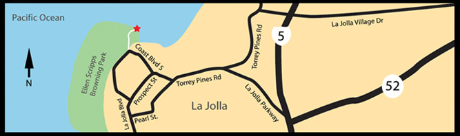 map to La Jolla Cove